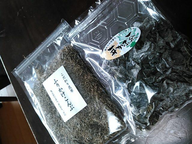 ふりかけ昆布、めかぶ茶