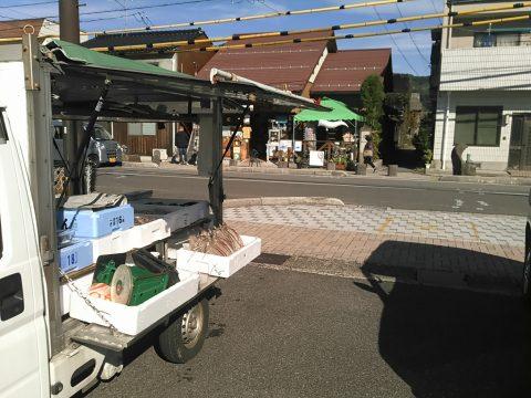 水木ロード:鮮魚移動販売地点