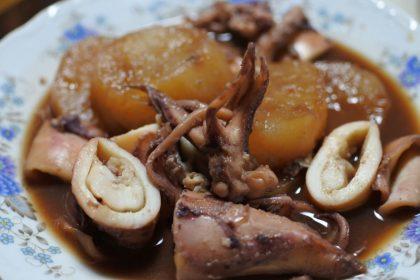 テナシイカと大根の煮物