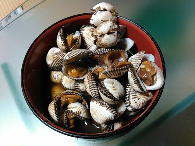 サルボウ貝の煮付け